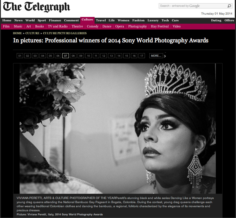 2014 SONY WORLD PHOTOGRAPHY AWARDS' Winners on The Telegraph website.