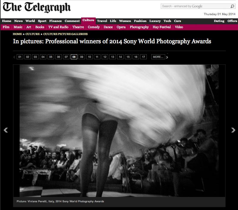 2014 SONY WORLD PHOTOGRAPHY AWARDS' Winners, The Telegraph, UK.