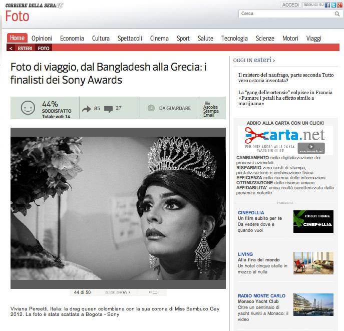 2014 SONY WORLD PHOTOGRAPHY AWARDS' Winners, Il Corriere della Sera, Italy.
