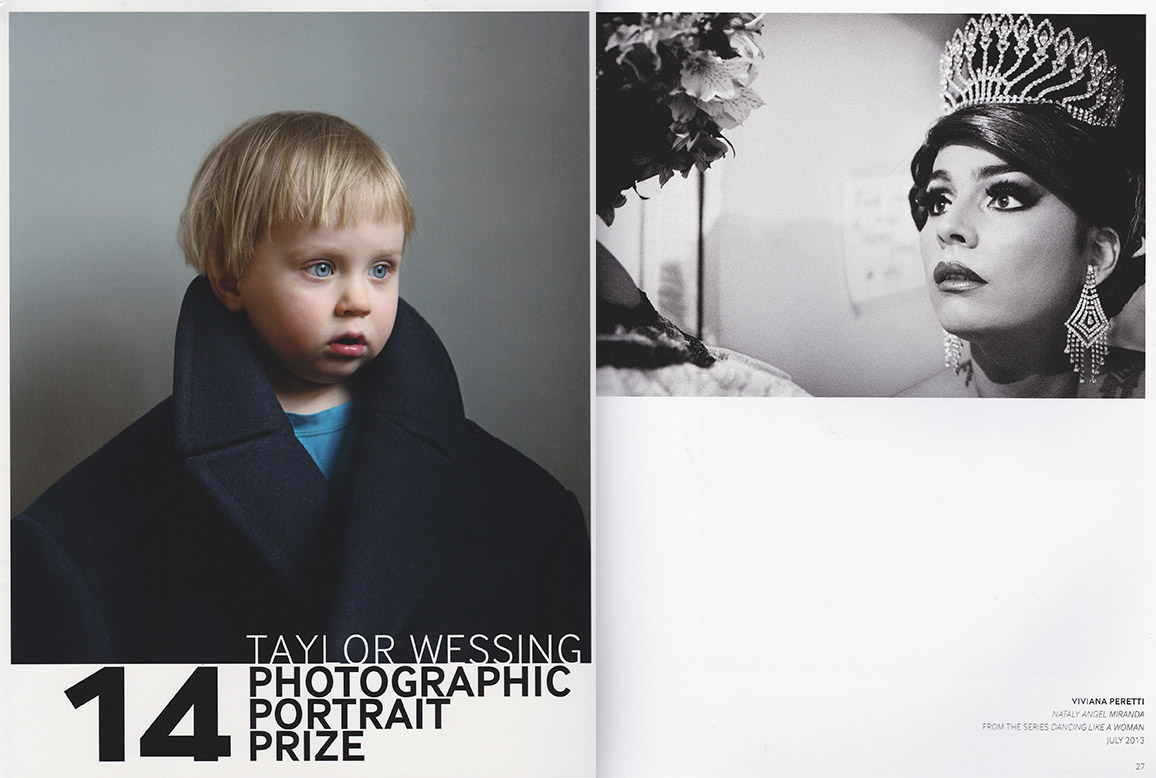 """Nataly Angel Miranda from the series Dancing Like a Woman exhibited at the NATIONAL PORTRAIT GALLERY in LONDON and published on the catalogue of the Taylor Wessing Photographic Portrait Prize 2014.""""The Taylor Wessing Photographic Portrait Prize 2014 is a unique opportunity to see sixty new portraits by some of the most exciting contemporary photographers from around the world. This year the competition attracted over 4,000 submissions"""", wrote the organisers. See the entire series here: http://www.vivianaperetti.com/#/colombia/dancing-like-a-woman/like_woman_01"""