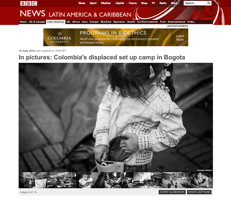 On June 2014 BBC featured my series about Colombia's displaced people occupying Plaza Bolivar, the main square in Bogota, to draw attention to their plight. See more at: http://www.bbc.com/news/world-latin-america-27834491