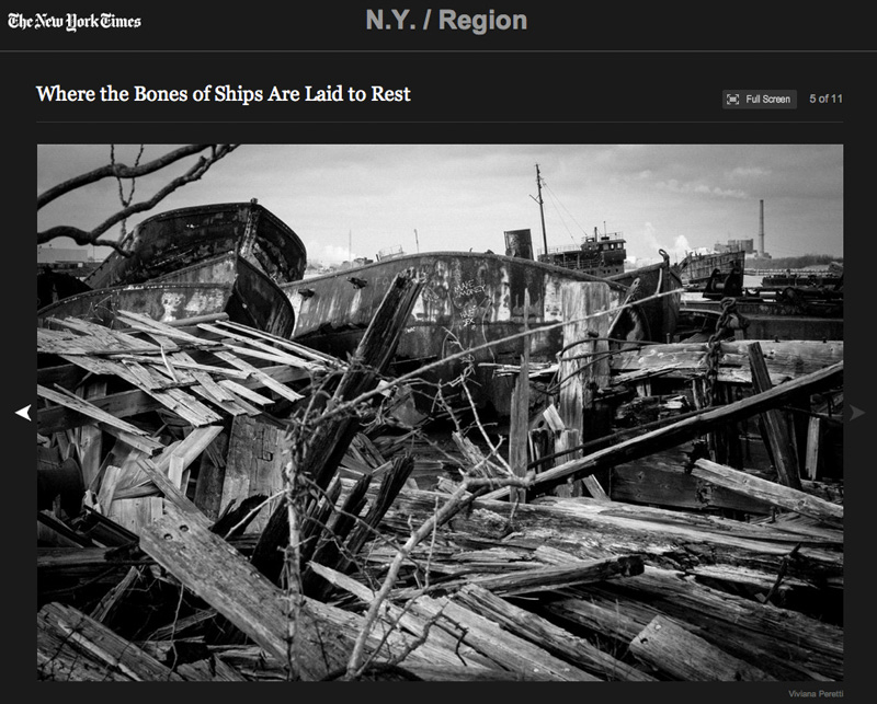 My story about a boat graveyard in Staten Island, New York, featured on The New York Times.