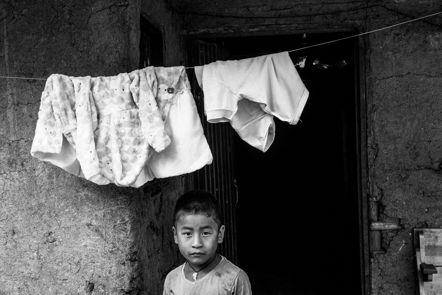 Marlon Santiago Pavi Ul (7 años), La Mina, Toribío, Cauca, Colombia, Agosto 18, 2018.