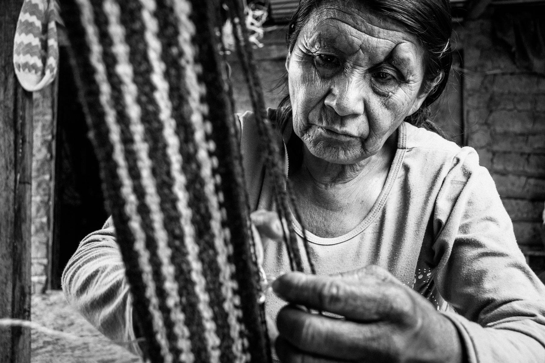 María Pequí Ascue (59 años), La Mina, Toribío, Cauca, Colombia, Agosto 18, 2018.